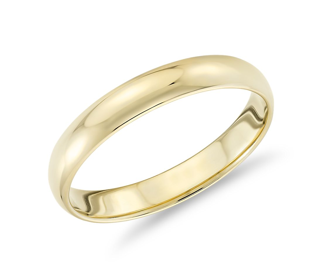 Classic Wedding Ring in 18k Yellow Gold (3mm)