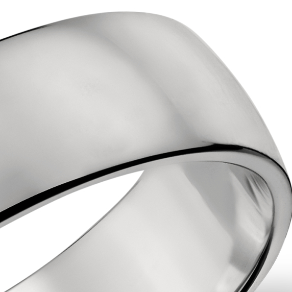 Alianza clásica en platino (6mm)