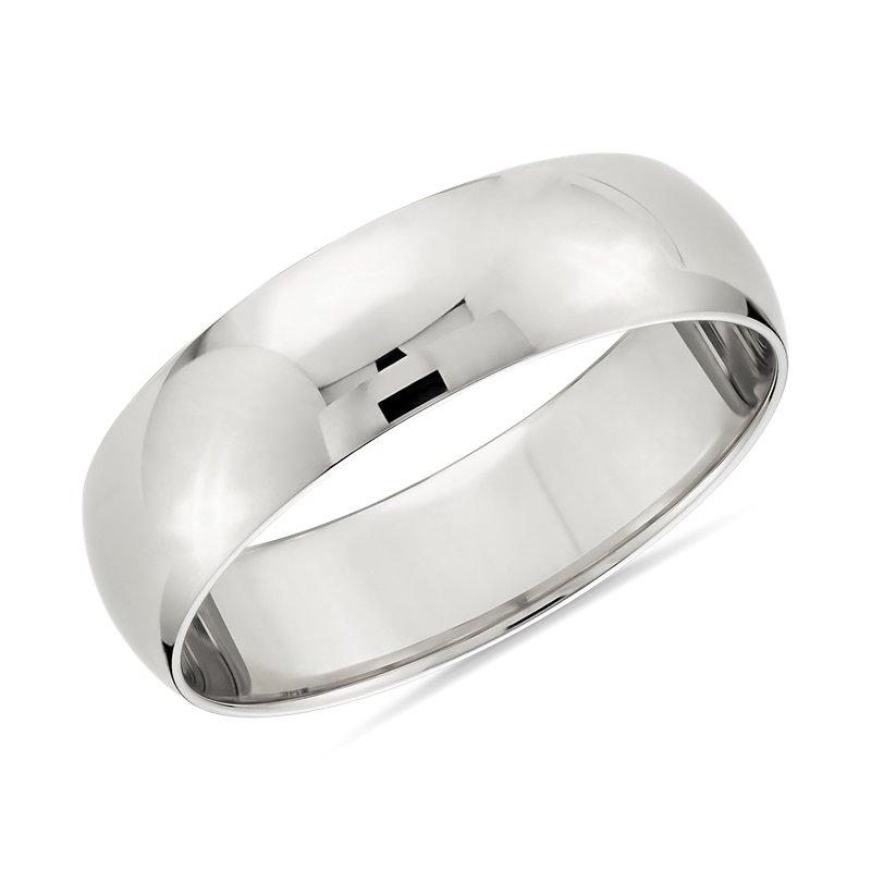 Classic Wedding Ring in Platinum (6mm)