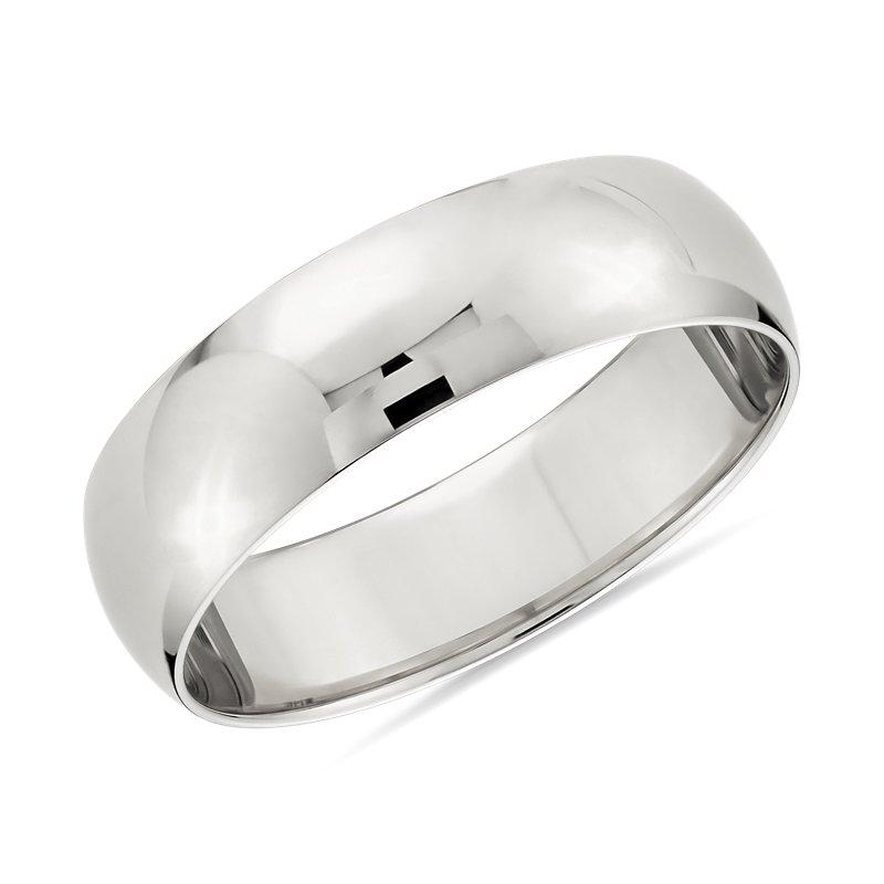Classic Wedding Ring in Platinum (6mm)