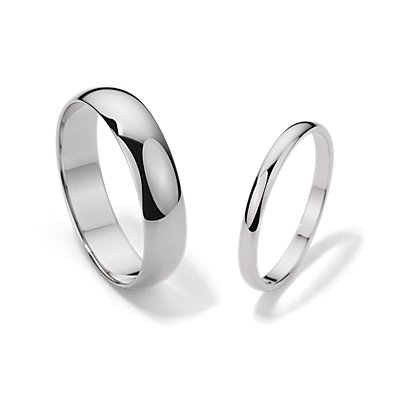 Classic Wedding Ring Set in 14k White Gold