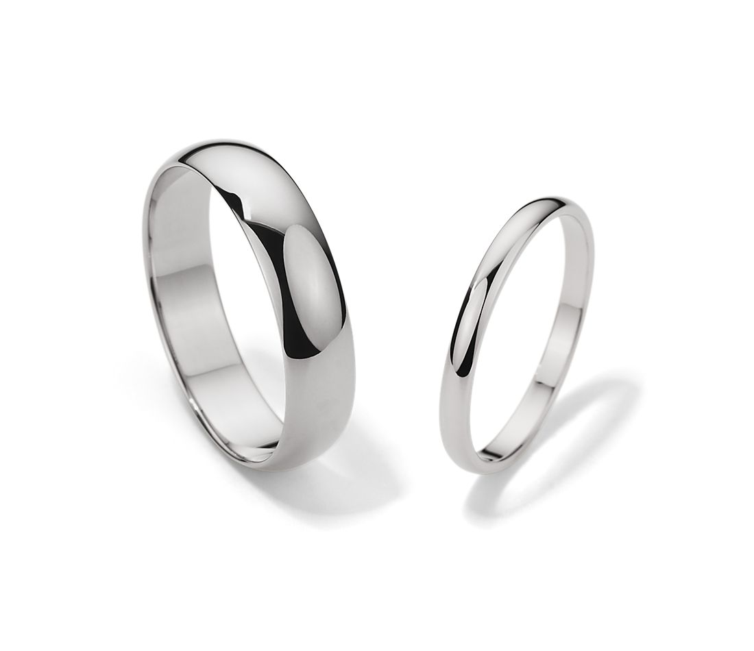 This is a photo of Classic Wedding Ring Set in Platinum Blue Nile