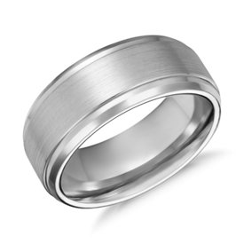 Satin Finish Wedding Ring in Cobalt (9mm)