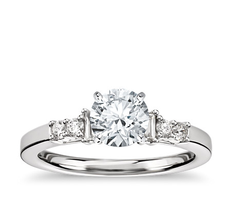 Colin Cowie Baguette Diamond Collar Engagement Ring in Platinum