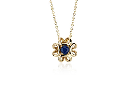 mens pendant solid blue gold white diamond ctw sapphire saphire