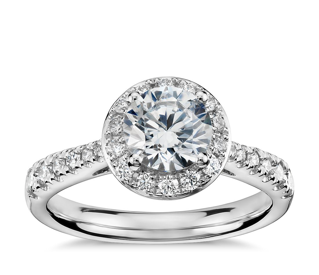 Colin Cowie Crown Halo Diamond Engagement Ring In Platinum