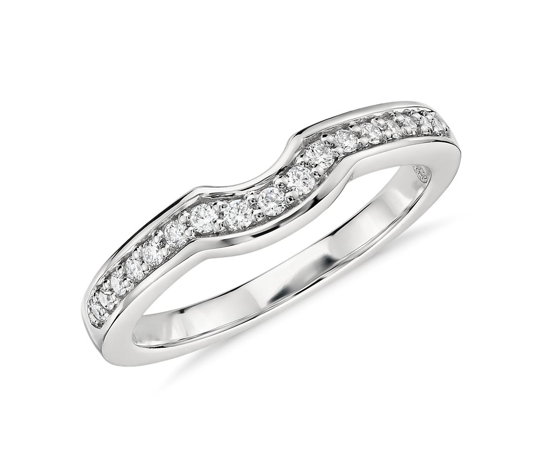 Colin Cowie Curved Pavé Diamond Ring in Platinum (1/5 ct. tw.)