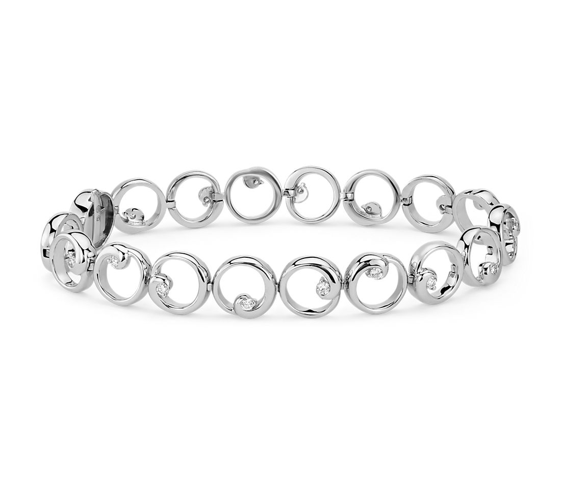 Colin Cowie Diamond Circle Bracelet In 14k White Gold 1 2 Ct Tw