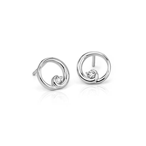 Colin Cowie Diamond Circle Earrings in 14k White Gold (1