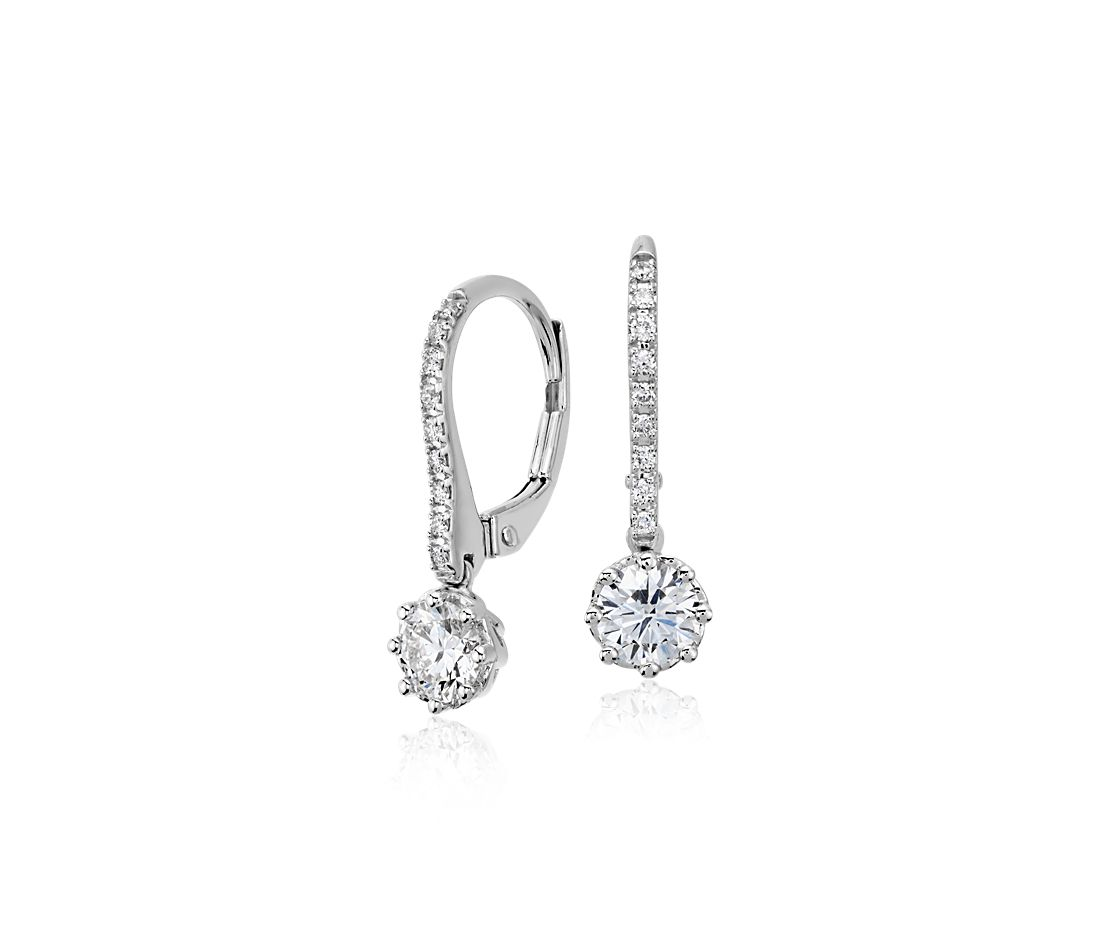 Colin Cowie Diamond Drop Earring In 14k White Gold 3 4 Ct Tw