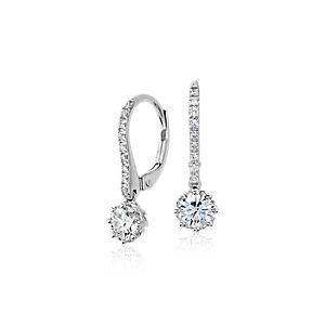 Pendants d'oreilles diamant Colin Cowie en or blanc 14carats (3/4carat, poids total)