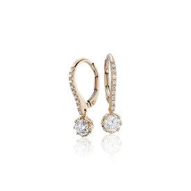 NUEVO. Aretes colgantes de diamantes de Colin Cowie, en oro amarillo de 14k (3/4 qt. total)