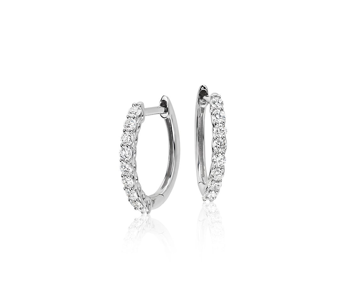 Colin Cowie Diamond Hoop Earrings in 14k White Gold (1/2 ct. tw.)