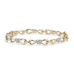 Brazalete de diamantes con diseño de infinito de Colin Cowie en oro amarillo de 14k (3/4 qt. total)