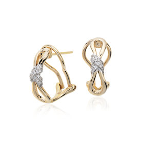 Colin Cowie Diamond Infinity Earrings in 14k Yellow Gold