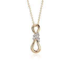 Colgante de bucle infinito con diamantes de Colin Cowie Oro amarillo de 14k