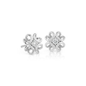 Colin Cowie Diamond Stud Earring in 14k White Gold (1/5 ct. tw.)