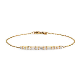 Bracelet traits et points Colin Cowie en or jaune 14 carats