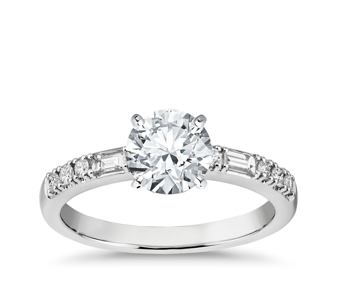 Colin Cowie Dot Dash Diamond Engagement Ring in Platinum (1/6 ct. tw.)