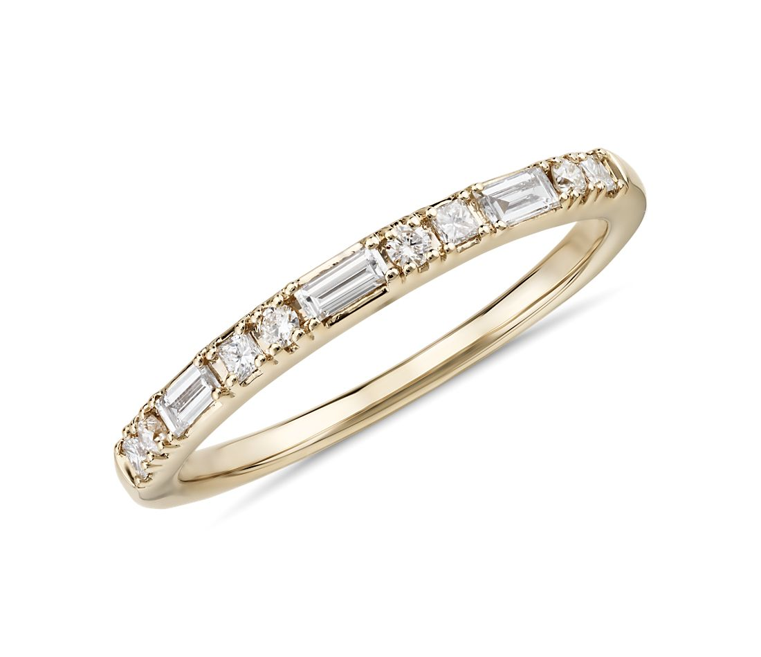 Colin Cowie Dot Dash Diamond Ring in 18k Yellow Gold (1/4 ct. tw.)