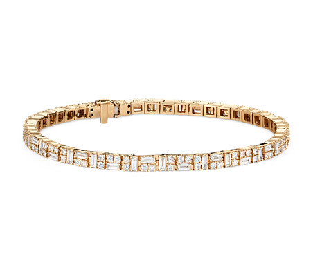 Colin Cowie Dot Dash Tennis Bracelet in 14k Yellow Gold