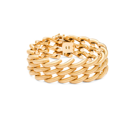 bracelet style item link yellow design full carat in gold vintage rope twisted