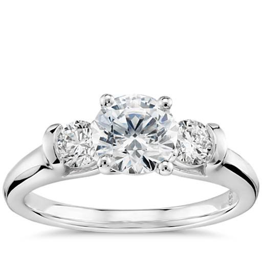 Colin Cowie Eternal Three Stone Diamond Engagement Ring In