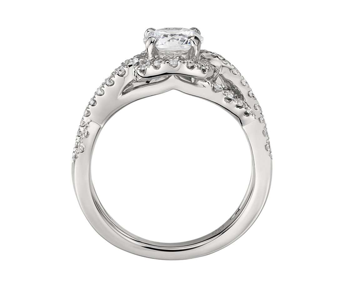 Infinity Platinum: Colin Cowie Infinity Halo Diamond Engagement Ring In