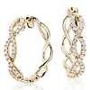 Colin Cowie Eternal Twist Diamond Hoop Earrings in 14k Yellow Gold ( 1/2 ct. tw.)