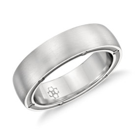 Colin Cowie Brushed Diamond Wedding Ring in Platinum (6mm)