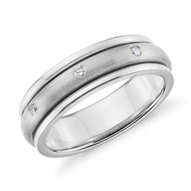 Colin Cowie Matte Diamond Rolling Wedding Ring in Platinum (6mm)