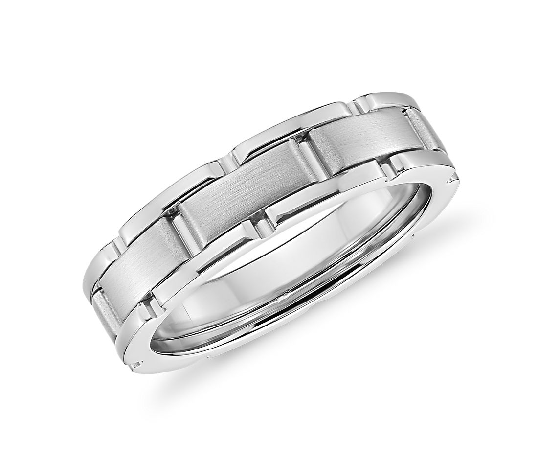 Colin Cowie Oyster Link Wedding Ring in Platinum (6.5mm)