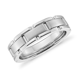 NEW Colin Cowie Oyster Link Wedding Ring in Platinum (6.5mm)