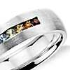 Colin Cowie Rainbow Channel-Set Wedding Ring in 18k White Gold (6mm)