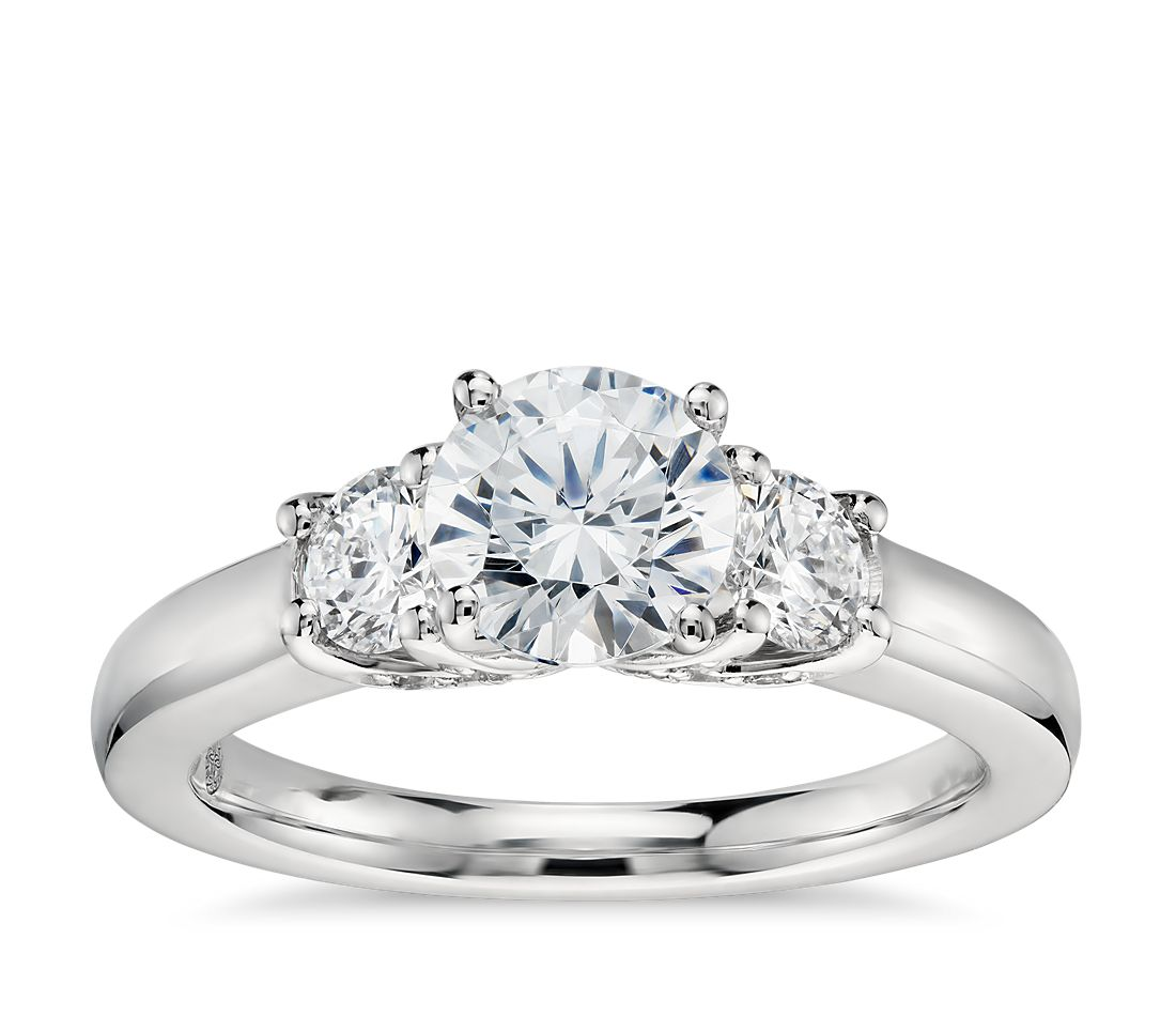colin cowie promise three stone diamond engagement ring in. Black Bedroom Furniture Sets. Home Design Ideas
