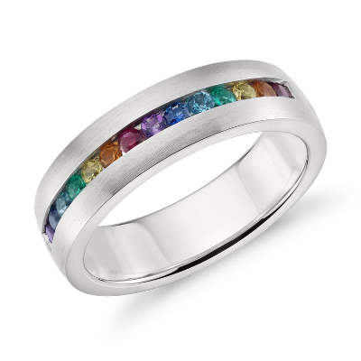 Colin Cowie Rainbow Channel-Set Ring In 18k White Gold