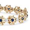 Colin Cowie Sapphire and Diamond Bracelet in 14k Yellow Gold (2.4mm)