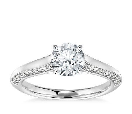 Colin Cowie Cathedral Solitaire Plus  in Platinum (1/4 ct. tw.)