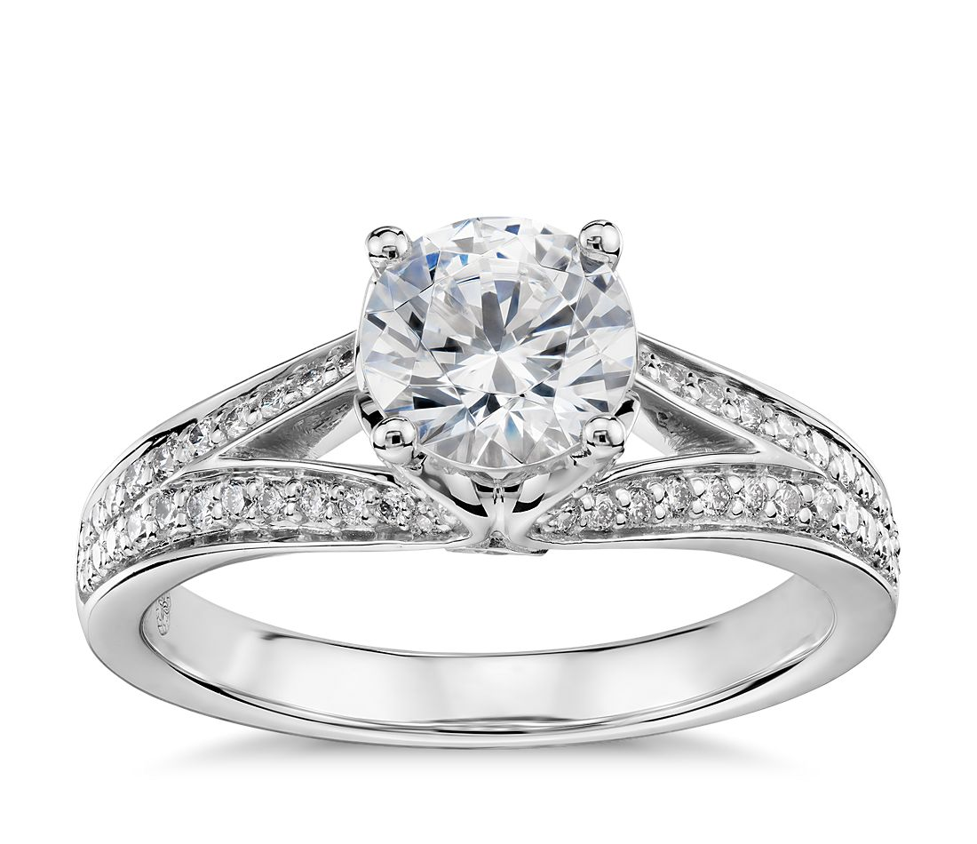 Colin Cowie Eternal Pavé Split Shank Diamond Engagement