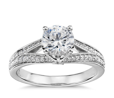 Colin Cowie Eternal Pavé Split Shank Diamond Engagement Ring in Platinum (1/3 ct. tw.)