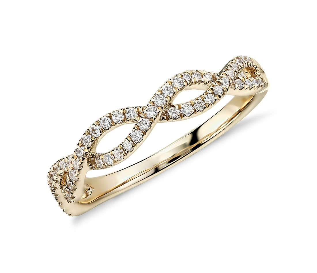 Colin Cowie Eternal Twist Diamond Ring in 14k Yellow Gold (1/4 ct. tw.)