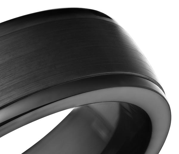 Alianza con acabado satinado en Cobalto ennegrecido (7mm)
