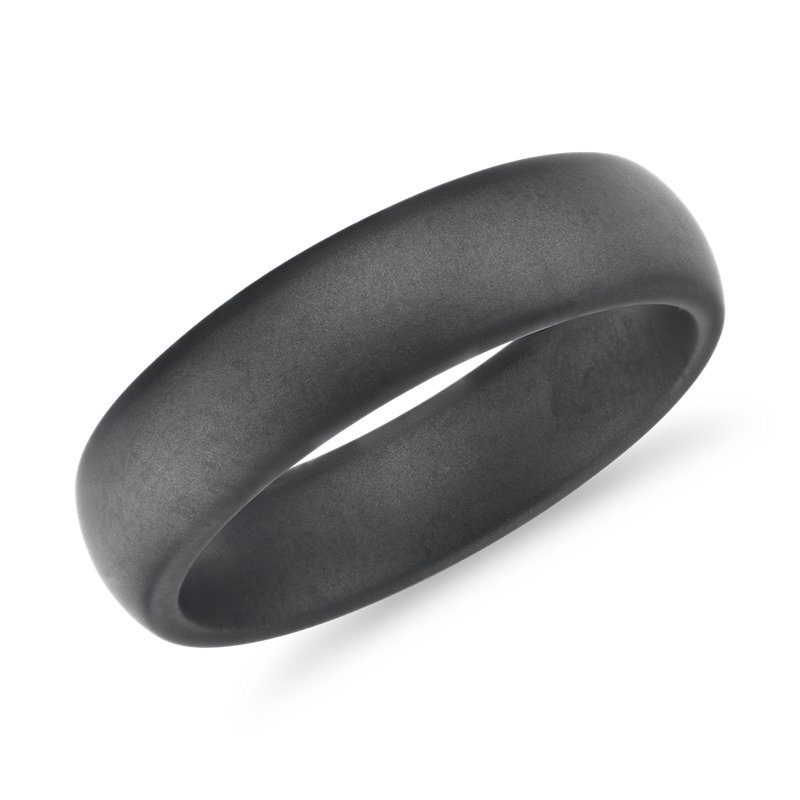Comfort Fit Gray Wedding Band in Tungsten (6mm)