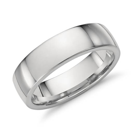 Low Dome Comfort Fit Wedding Ring In Platinum 6mm Blue Nile