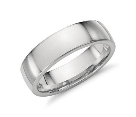 dome tungsten brushed ring edge gold comfort rose band wedding mens fit inside white rings