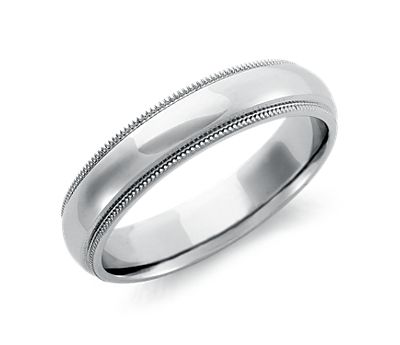 Milgrain Comfort Fit Palladium Wedding Ring
