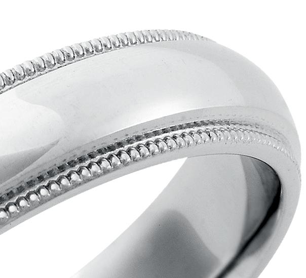 Alliance confort à mille-grains en Palladium (5mm)