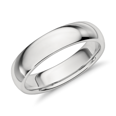 Comfort Fit Wedding Ring in Platinum 5mm Blue Nile