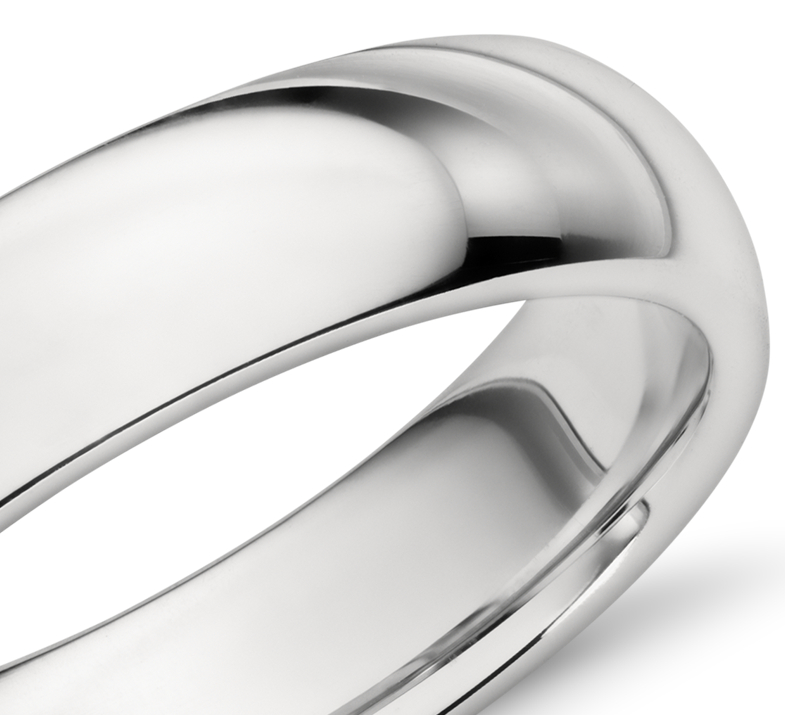 Comfort Fit Wedding Ring in Platinum (5mm)