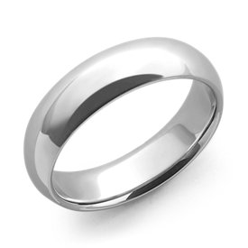 Alliance confort en or blanc 14 carats (6 mm)